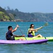 Couple kayaking at sea — Stock Photo #40563255
