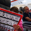 Stock fotografie: Flight safety instructions