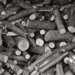 Stock Photo: Firewood logs