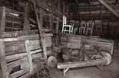 Oude schuur interieur — Stockfoto