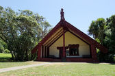 Exterior view of the Maori Marae — Stock Photo