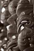 Maori Marae decoration — Stock Photo