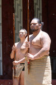 Maori men preforming — Stock Photo