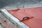 Efterbehandling murslev verktyg — Stockfoto