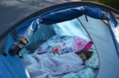 Child Camping — Stock Photo