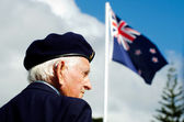 Anzac Day - War Memorial Service — Stock Photo