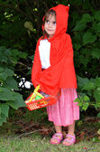 Little girl with Red Riding Hood costume — Stock Photo