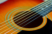 Folk acoustic guitar — Stock Photo
