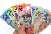 Australian and New Zealand Dollar banknotes — Stock Photo