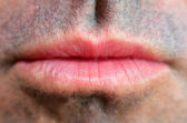 Man lips — Stockfoto