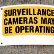 Surveillance cameras sign — Stock Photo #43801679