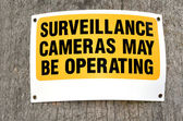 Surveillance cameras sign — Stock Photo