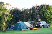 Maitai Bay conservation campsite — Stock Photo