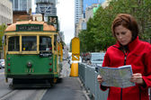 Melbourne tramway network — Stock Photo