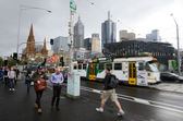 Melbourne - Street Scene — Stock Photo