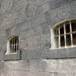 Old prison cell windows — Stock Photo