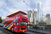 Melbourne tour bus — Stock Photo