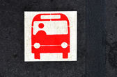 Bus platform sign and symbol — Stock Photo