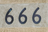 Number 666 sign and symbol — Stock fotografie