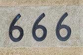 Number 666 sign and symbol — Stok fotoğraf