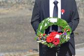 Anzac Day - War Memorial Service — Stock Photo