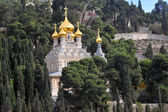 Church of Mary Magdalene in Mount of Olives in Jerusalem — Stock Photo