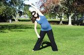 Pregnant woman exercise — Stock Photo
