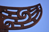 Maori  culture - wood curving — Stock Photo