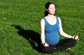Pregnant woman exercise Yoga — Foto de Stock