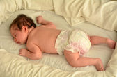 Newborn baby sleep — Stock Photo