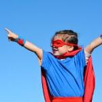 Superhero child - girl power — Stock Photo