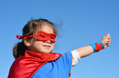 Superhero child - girl power — Stock Photo