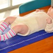 Постер, плакат: Infant baby body height examination