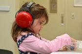Hearing check for pre-school child — Stock Photo