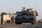 Israeli artillery M109 howitzer unit — Stock Photo