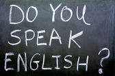 Blackboard with Do you speak English wodrs — Stock Photo