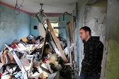 Palestinian rocket attacks on Israel — Stock Photo