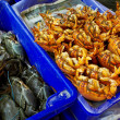 Crabs on fish market — Stock Photo