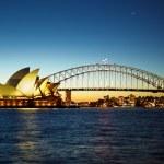 ナイトでシドニー オペラ ハウス — ストック写真