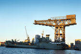 Offshore constructie rig — Stockfoto