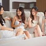 Girls meeting — Stock Photo