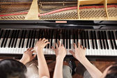 Duet fortepianowy — Zdjęcie stockowe