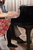 Piano duet — Stock Photo
