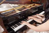 Piano duet — Stock Photo