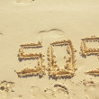 Stock Photo: SOS sign