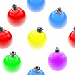 Seamless pattern of Christmas colored baubles — Stock Photo