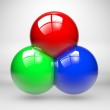 Rgb colors made with three spheres — Stock Photo #13558490
