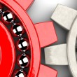 Two gear bearings illustrating team work as concept — Stockfoto