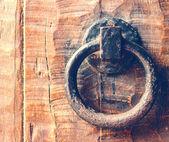 Battente porta d'epoca in legno porta — Foto Stock