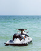 Powerful jet ski floating on water — Stok fotoğraf